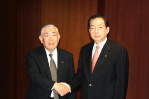 大澤会長(左)と太田国土交通大臣