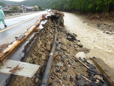 台風12号の被害を受けた那智勝浦町