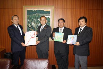 左から篠木館長、中島会長(愛知)、新田理事(福島)、太田総務部会長(秋田)