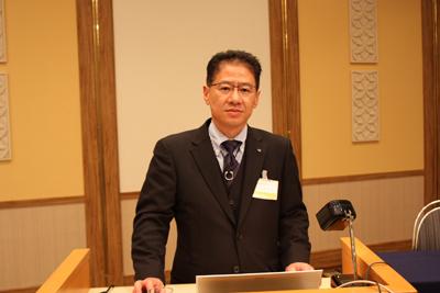 釧路大会への参加を呼び掛ける釧路市・中澤技術業務部会長